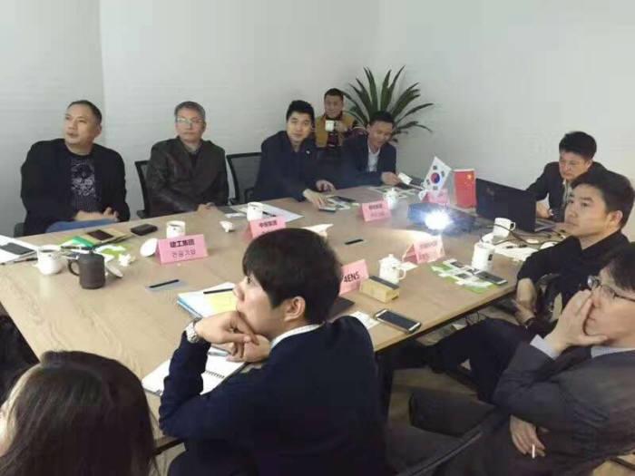 포엔스의 중국 내 투자 유치 및 자금 조달 설명회.