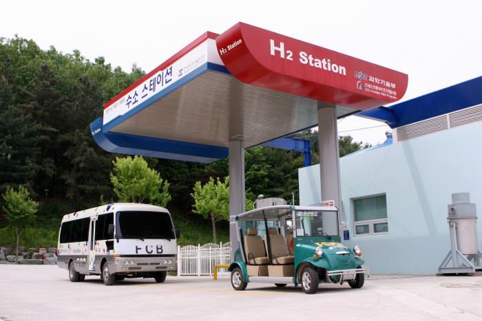 한국에너지기술연구원이 구축한 수소스테이션