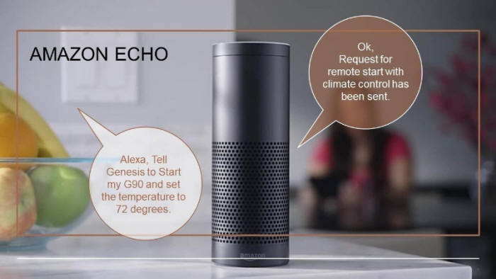 아마존 IoT 기기인 '에코'에 탑재된 가상비서 서비스 '알렉사'