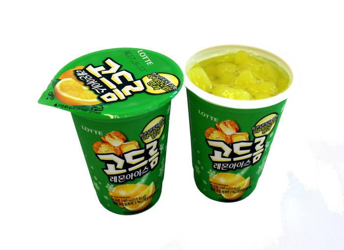 롯데제과, 마시는 빙과 '고드름 레몬아이스' 출시