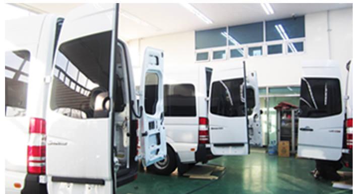 한국시스템이 주력 사업으로 키우고 있는 대형 특장차 제조 이미지.