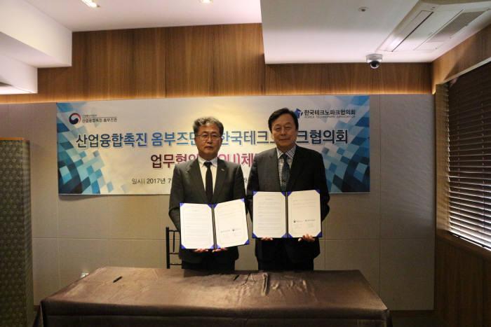 (좌) 편광의 회장, 한국TP협의회, (우)이주연 옴부즈만(아주대 교수)