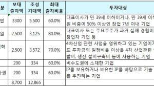 중소벤처기업부, 1조3000억원 벤처펀드 조성...추경 예산 포함 8700억원 출자