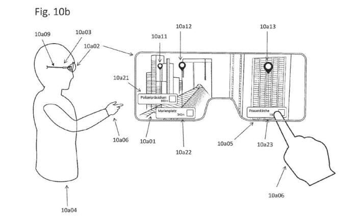 애플이 출원(신청)한 증강현실 스마트 안경 특허 / 자료: 미국 특허청(USPTO)