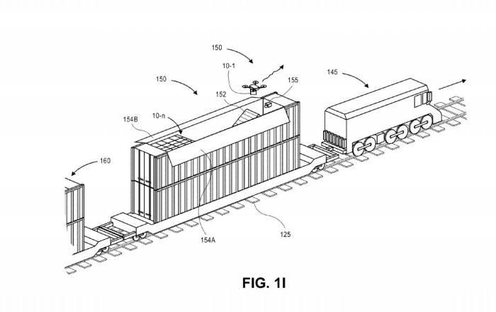 아마존이 등록한 '드론을 위한 지상 이동용 정비시설' 특허(US9718564) 도면 / 자료: 미국 특허청(USPTO)