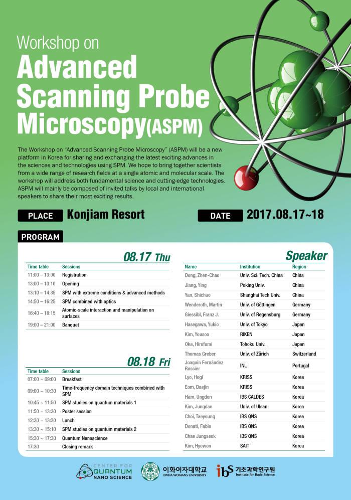 국제주사탐침현미경 워크숍 포스터
