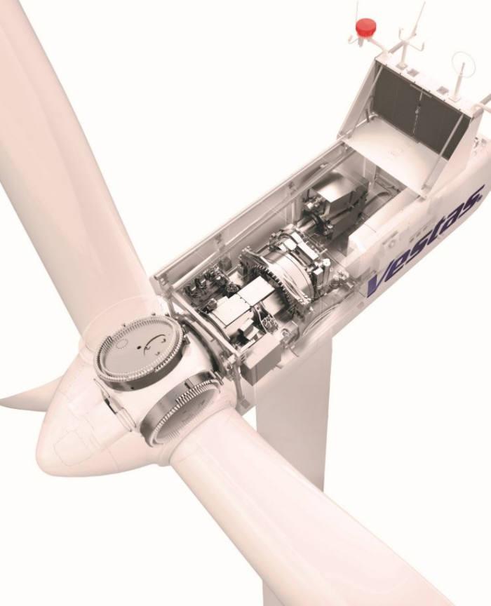 덴마크 업체 베스타스의 풍력발전기 V100-2.0MW(메가와트) 제품 사진/ 자료: 베스타스 V100-2.0MW 브로슈어