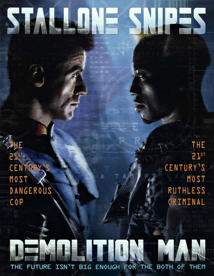 영화 '데몰리션 맨' 포스터.