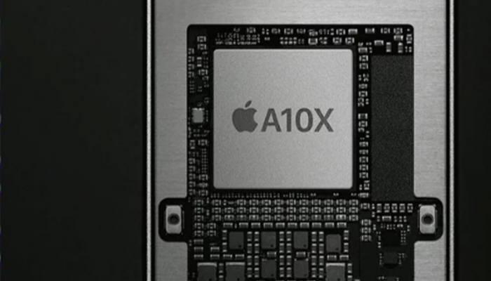애플 A10X SoC. HBM을 얹은 A11X는 최종 패키지 면적이 커질 전망이다.