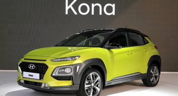 현대자동차의 소형 SUV 코나.