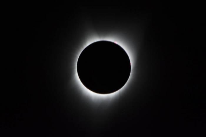 2017년 8월 21일 미국에서 관측된 개기일식(사진 : NASA)