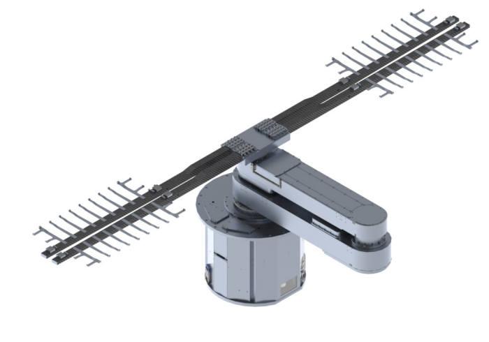 티이에스가 개발한 플렉시블 OLED용 진공 이송 로봇 (사진=티이에스)