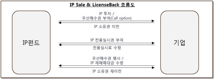 IP SLB(Sale and License Back) 흐름도/ 자료: 아이디어브릿지자산운용