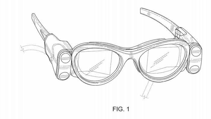 매직리프가 등록한 AR안경 특허(USD795952S) 도면 / 자료: 미국 특허청