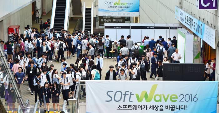 지난해 열린 소프트웨이브 2016 전시관 모습