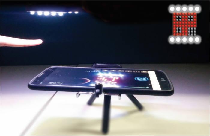 정연호 부경대 교수가 개발한 'LED를 이용한 스마트홈 모션인식 기술' 테스트 이미지.