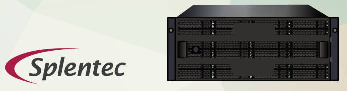 프라미즈테크놀로지 스토리지 서버 시스템 'VESS A4800'. 올리브텍이 개발한 스플렌텍 웜 OS가 탑재됐다.