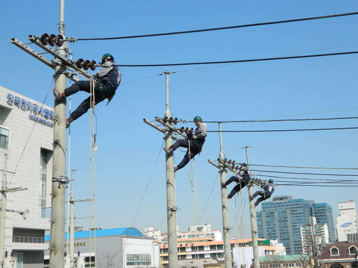 전기공사인력개발원 직무훈련 모습