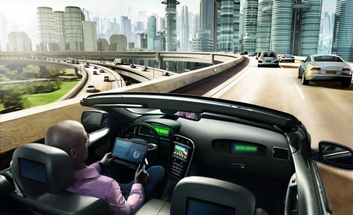 콘티넨탈 자율주행차 콘셉트 이미지.