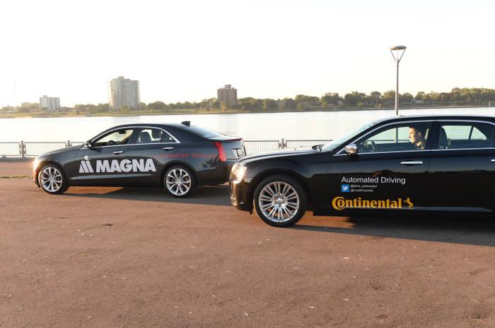 미국-캐나다 간 자율주행 테스트 성공한 자율주행차.