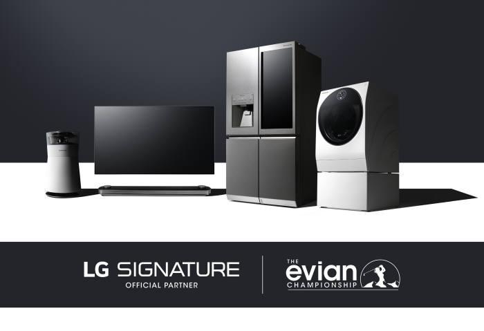 'LG 시그니처'와 에비앙 챔피언십 이미지
