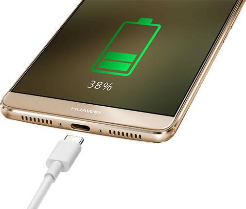 화웨이 스마트폰에 슈퍼차지 기술이 적용된 모습.