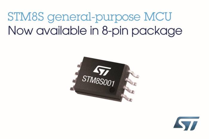 ST마이크로일렉트로닉스가 새 8비트 MCU STM8S001을 출시했다고 11일 밝혔다.