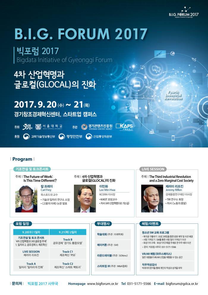 [미리보는 빅포럼 2017]4차 산업혁명 변화 알려줄 '메이커톤' 주목