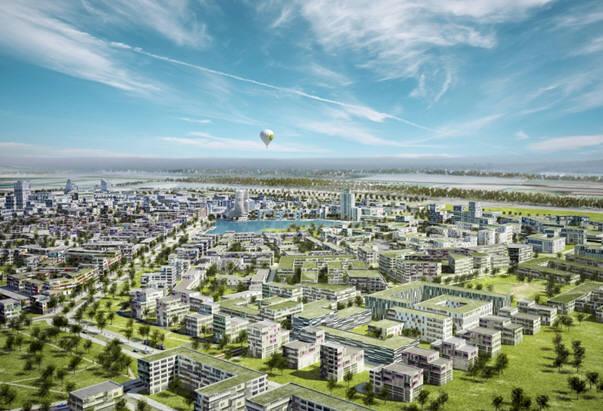 독일 지멘스가 수행중인 오스트리아 비엔나 시 스마트시티 프로젝트 대상 지역 아스페른호수. [자료:지멘스]