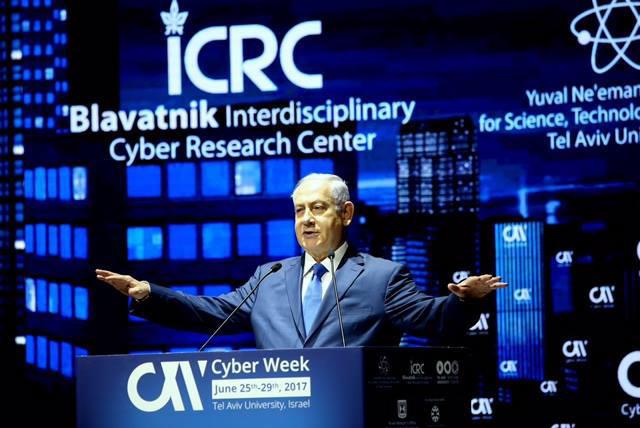 벤자민 나탄야후 이스라엘 총리가 지난 6월 텔아비브에서 열린 '사이버위크 2017'에서 '글로벌 사이버 보안 협력 중요성'을 강조했다.