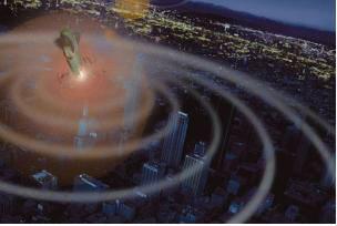전자기탄(EMP탄)은 공격 범위 내 각종 전자장비와 시설을 무력화시킬 수 있다.