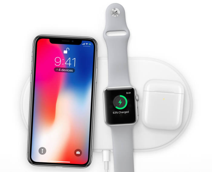애플은 내년에 아이폰X, 애플워치, 에어팟을 동시에 충전할 수 있는 '에어파워'를 출시한다. / 이미지=애플
