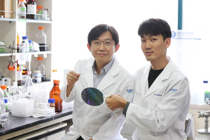 김상욱 KAIST 신소재공학과 교수(왼쪽)와 연구 논문 제1저자인 진형민 연구원(오른쪽)