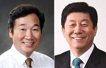 이낙연 총리(왼쪽), 박재호 의원