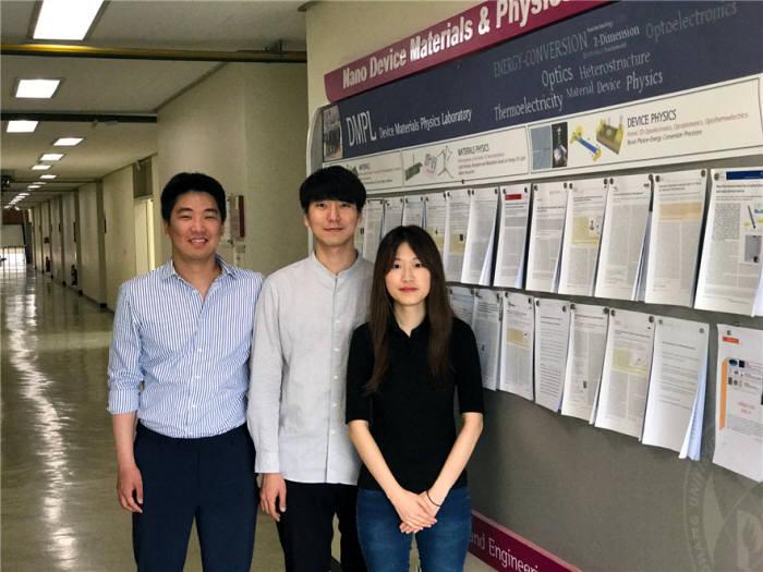 이번 연구의 공동 제1저자. 왼쪽부터 허호석 연구위원, 성지호 연구위원, 시새롬 연구원