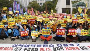삼척시민 광화문서 석탄화력 건설 촉구 궐기대회