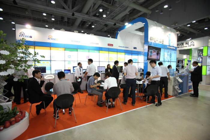 2016 K-ICT 위크 인 부산의 '클라우드 엑스포 코리아' 전시장