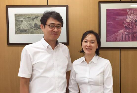 왼쪽부터=펀진 김정훈 부사장, 김득화 대표.(사진=펀진 제공)