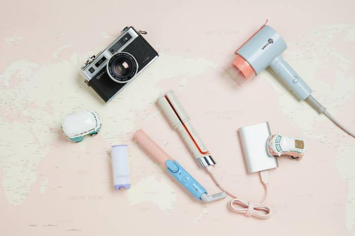유닉스전자 USB 미니 고데기와 슈가롤 이미지