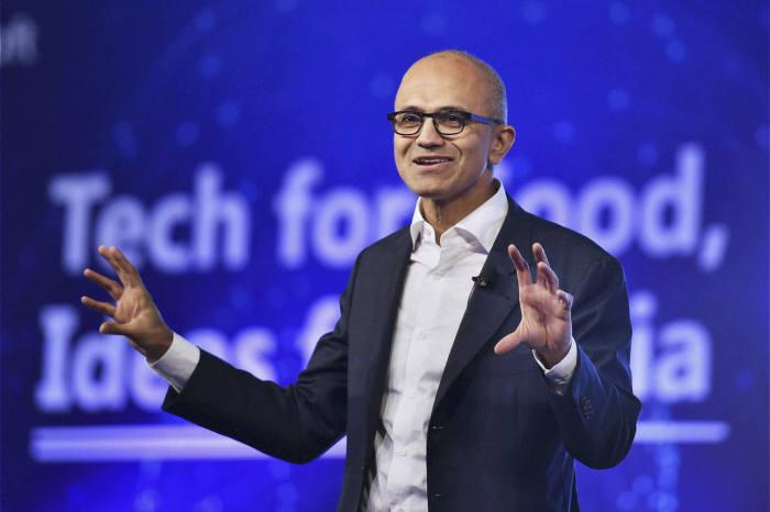 인도 출신 사티아 나델라 마이크로소프트 최고경영자(CEO)