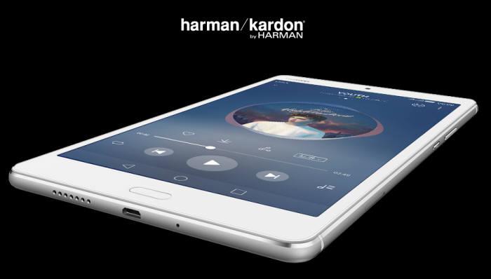 화웨이 미디어패드 M3 라이트는 하만카돈 오디오 성능을 지원한다.