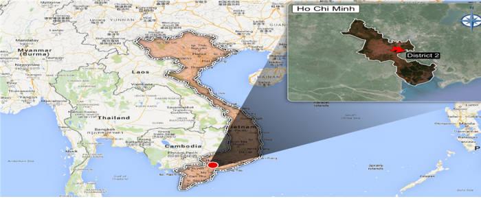 한국환경공단과 선진엔지니어링이 수주한 '베트남 호치민시 제2지구 하수관로 정비사업' 지역. [자료:한국환경공단]