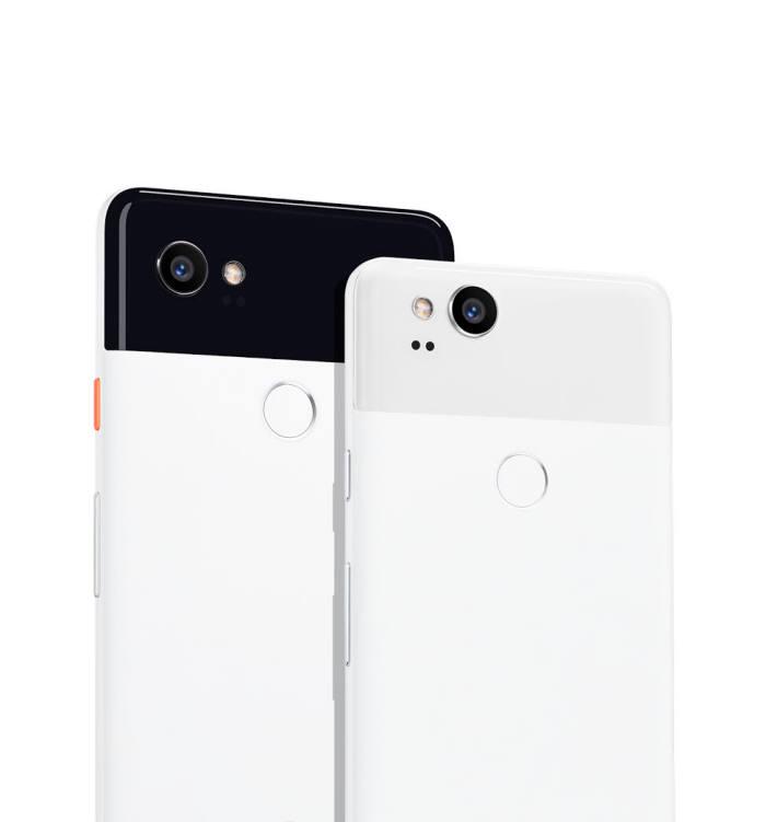 구글 스마트폰 '픽셀2' 후면 모습(출처: 구글)