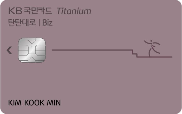 국민카드, 소상공인 전용 '탄탄대로 비즈 티타늄'카드 출시