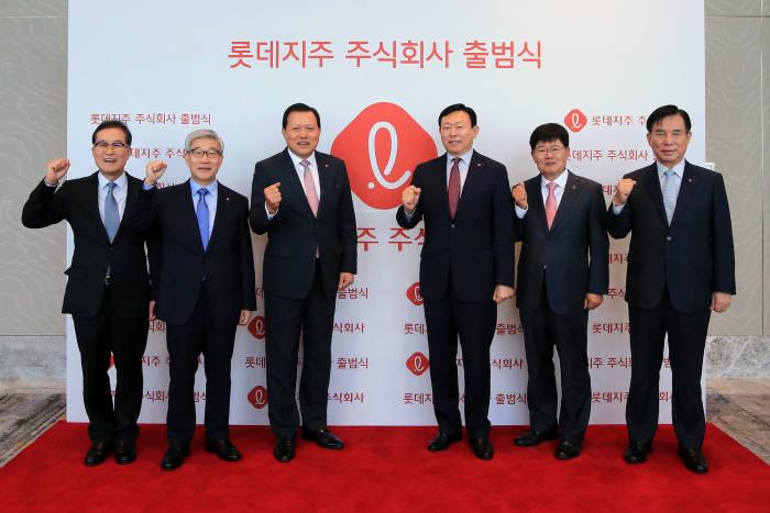 자산 6조원 규모 '롯데지주' 공식 출범...신동빈 지배력 강화