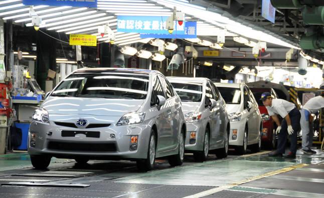 일본 토요타 생산라인.