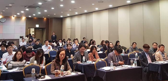 한국지식재산서비스협회(회장 백만기)는 최근 서울 역삼동 한국과학기술회관에서 5회 IP 번역 포럼을 개최했다./ 사진: 한국지식재산서비스협회