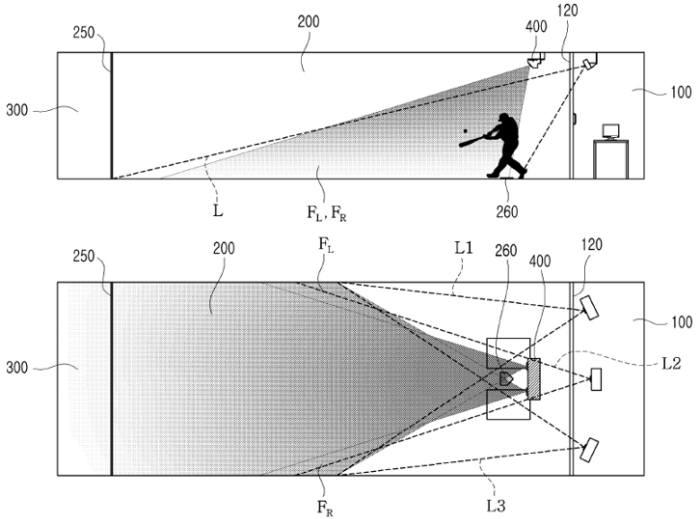 리얼야구존이 특허청에 7월 등록한 '카메라 센서를 이용한 스크린 야구 시스템 및 방법' 특허(등록번호 10-1057310)/ 자료: 키프리스