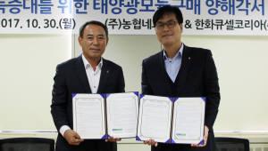 농협네트웍스-한화큐셀코리아, 태양광모듈 공급 업무협약