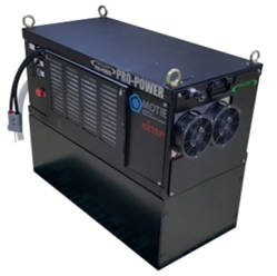 프로파워가 개발한 지게차 등 실내 물류운반차용 연료전지 파워팩 '프롬젠'.